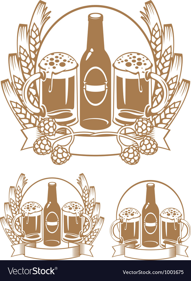 Beer bottle ear vector | Price: 1 Credit (USD $1)