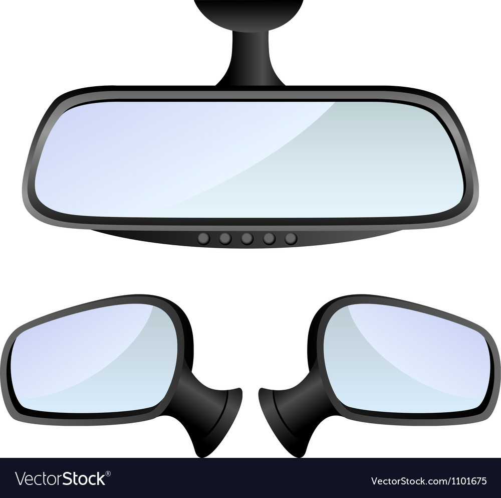 Car mirror set vector | Price: 1 Credit (USD $1)