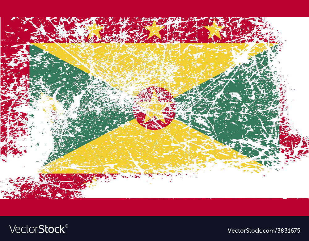 Flag of grenada with old texture vector   Price: 1 Credit (USD $1)