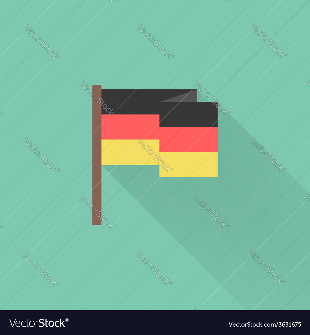 Flat germany flag with long shadow vector   Price: 1 Credit (USD $1)