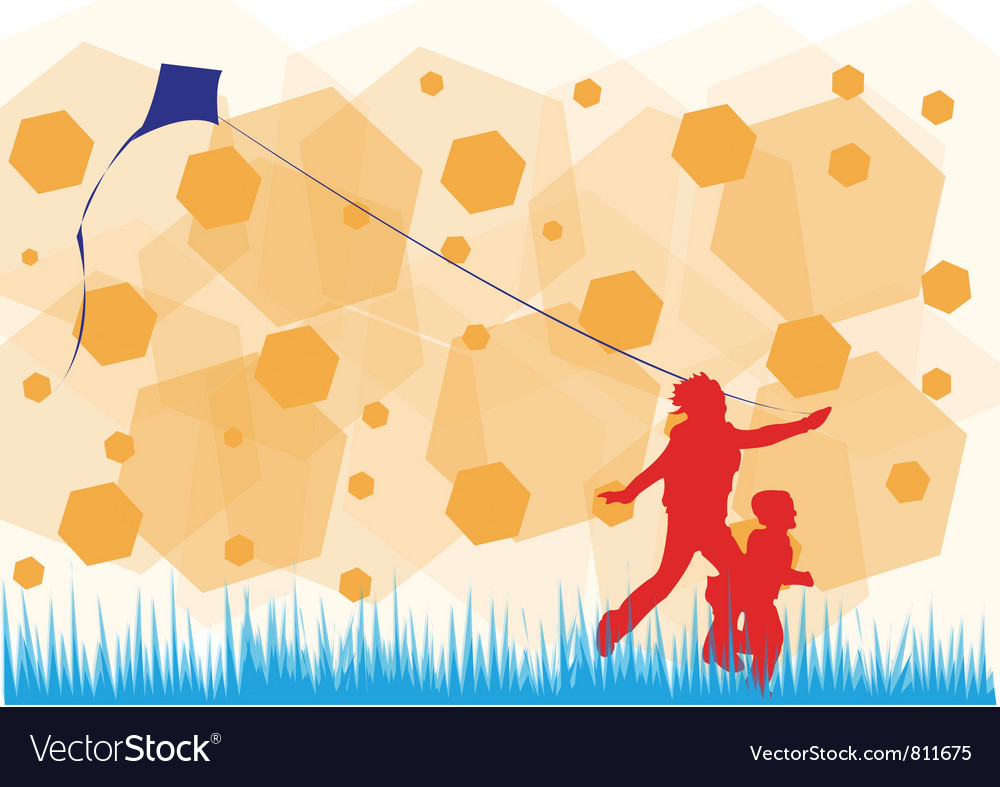 Fly kite vector | Price: 1 Credit (USD $1)