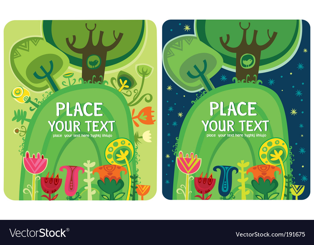 Magical forest set vector | Price: 1 Credit (USD $1)