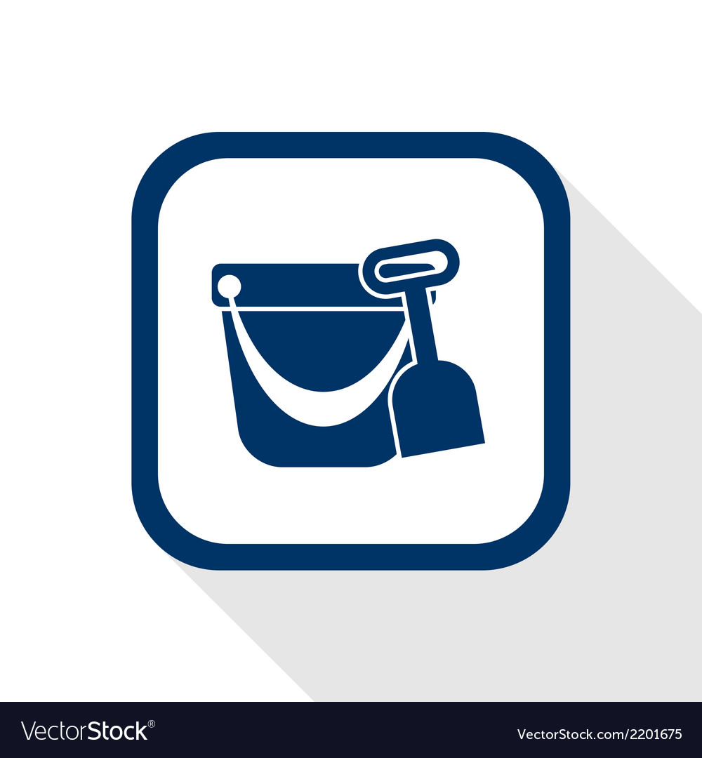 Pail shovel flat icon vector | Price: 1 Credit (USD $1)