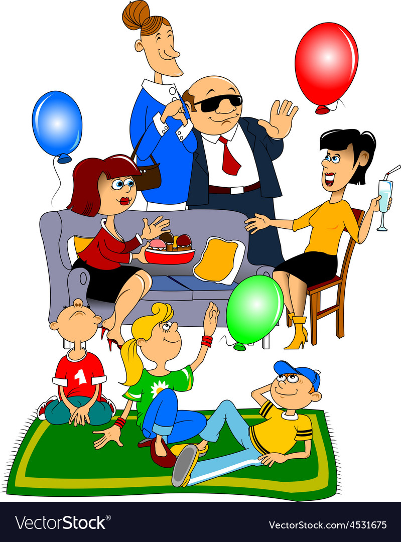 Party guests vector | Price: 3 Credit (USD $3)
