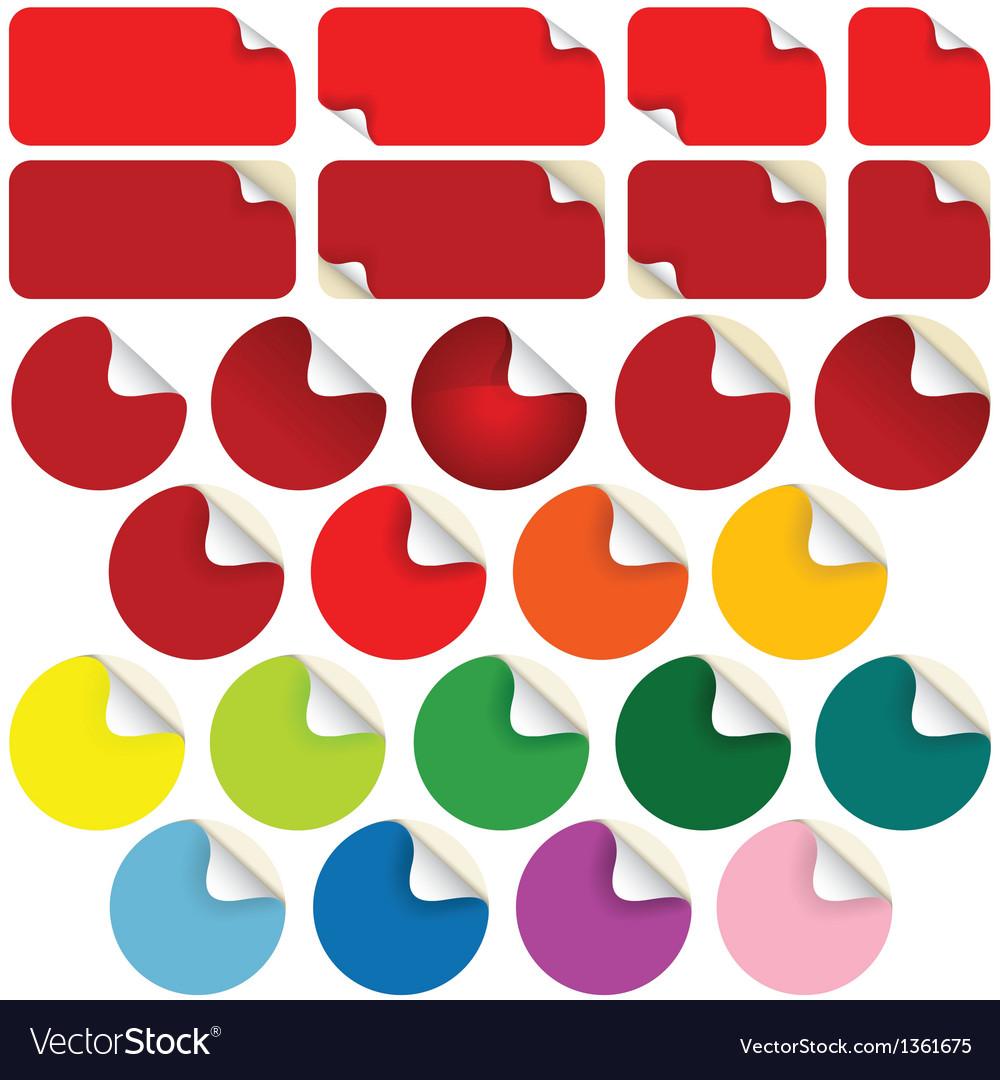 Peeling stickers vector | Price: 1 Credit (USD $1)