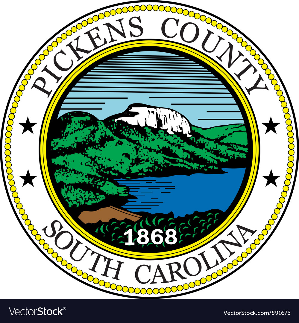 Pickens county seal vector | Price: 1 Credit (USD $1)