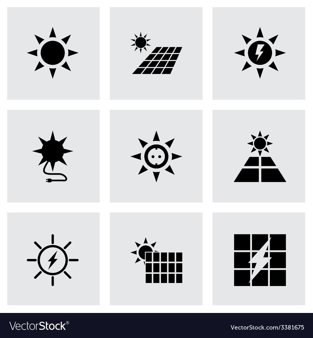 Solar energy icon set vector | Price: 1 Credit (USD $1)