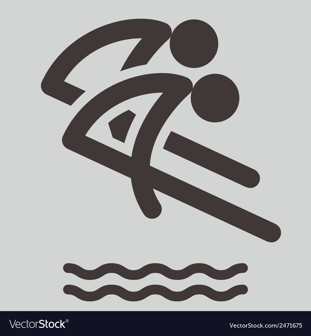 Synchronized diving icon vector | Price: 1 Credit (USD $1)