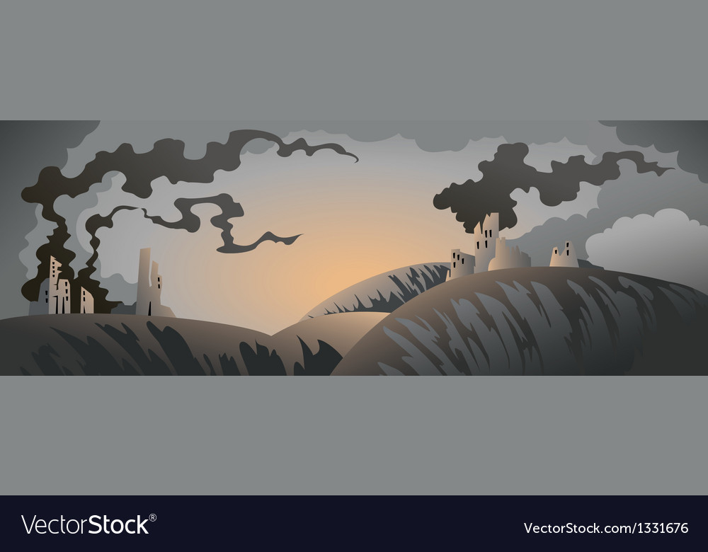 Apocalyptic landscape vector | Price: 3 Credit (USD $3)