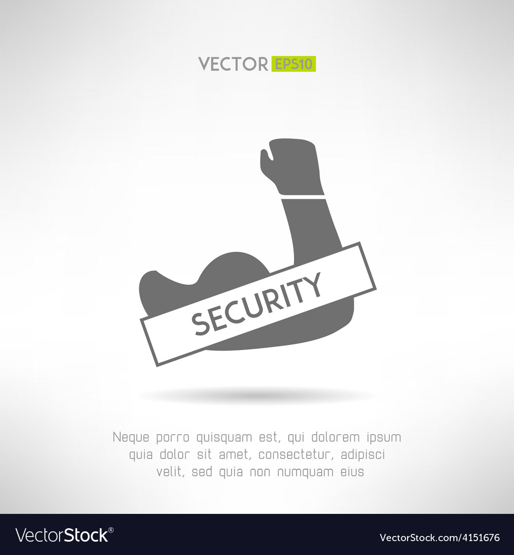Arm with strong biceps security idea t-shirt vector   Price: 1 Credit (USD $1)