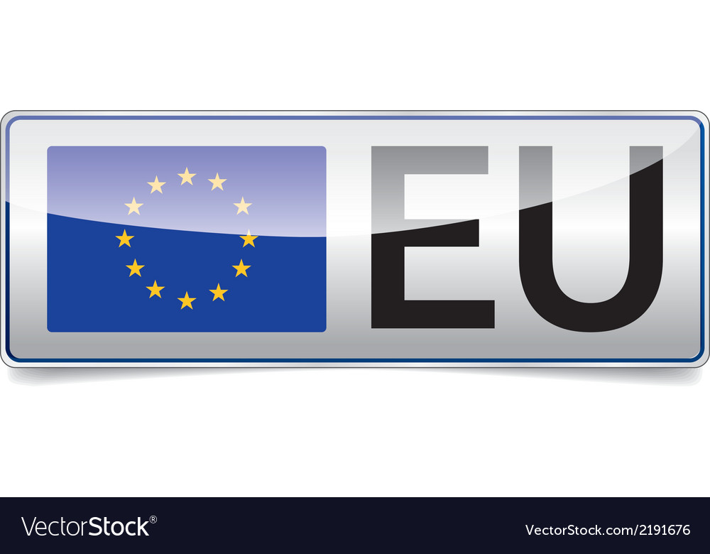 Eu flag european union vector | Price: 1 Credit (USD $1)