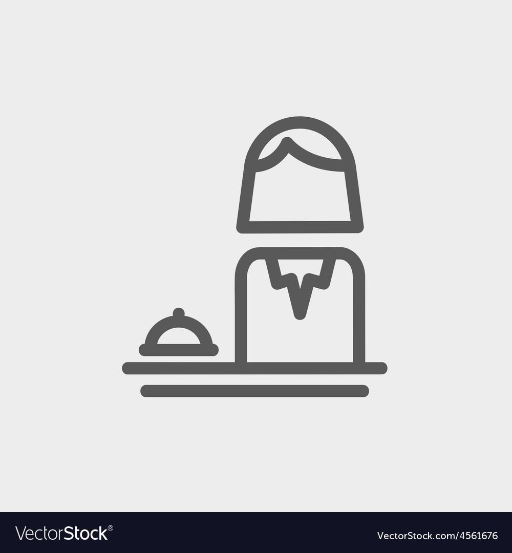 Female receptionist thin line icon vector | Price: 1 Credit (USD $1)
