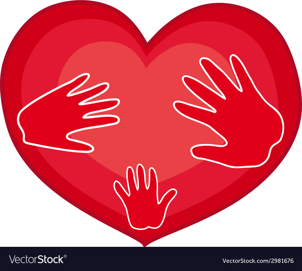 Hands on heart vector | Price: 1 Credit (USD $1)