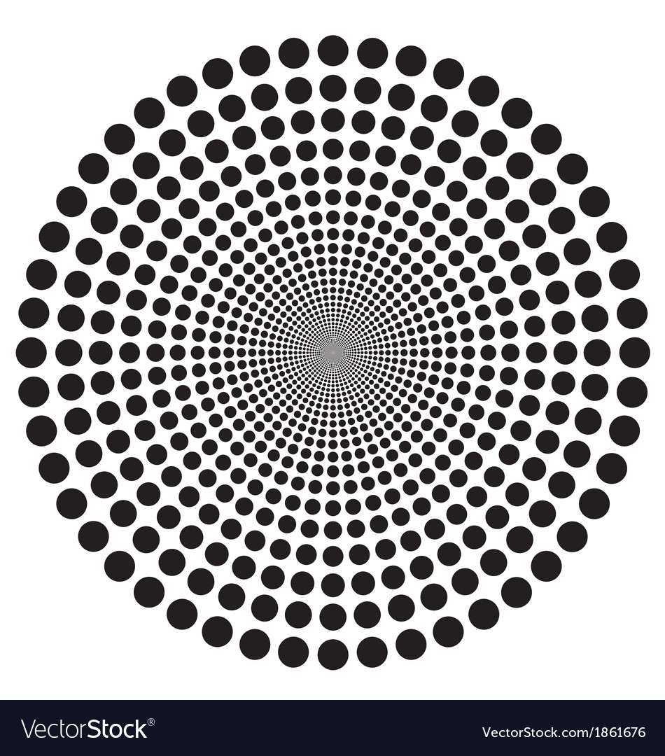 Hypnotic circle vector | Price: 1 Credit (USD $1)