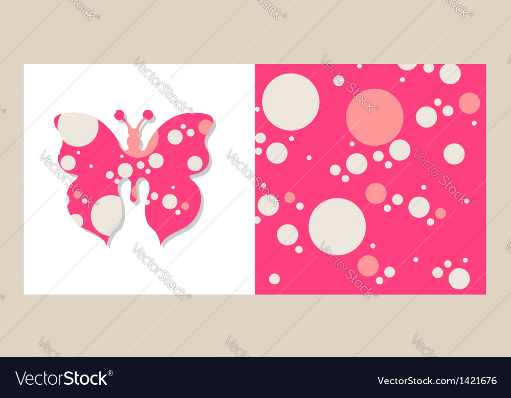 Isolated butterfly on white and a bubbles vector | Price: 1 Credit (USD $1)