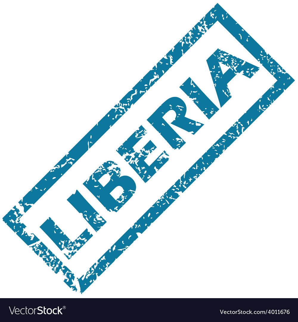 Liberia rubber stamp vector | Price: 1 Credit (USD $1)
