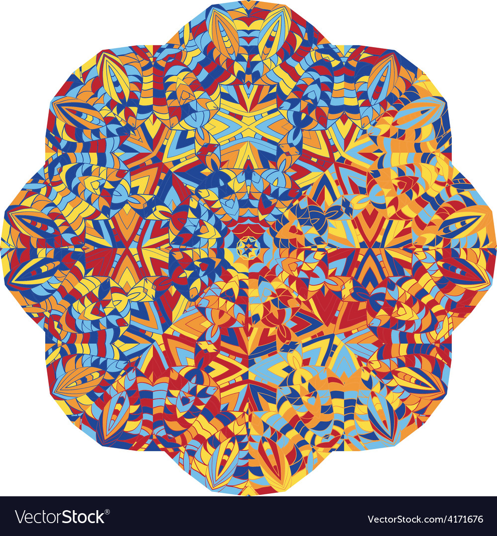 New abstract image with kaleidoscope vector | Price: 1 Credit (USD $1)