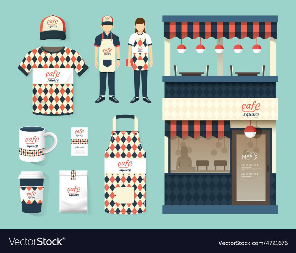 Restaurant cafe set shop front design flyer menu vector | Price: 3 Credit (USD $3)