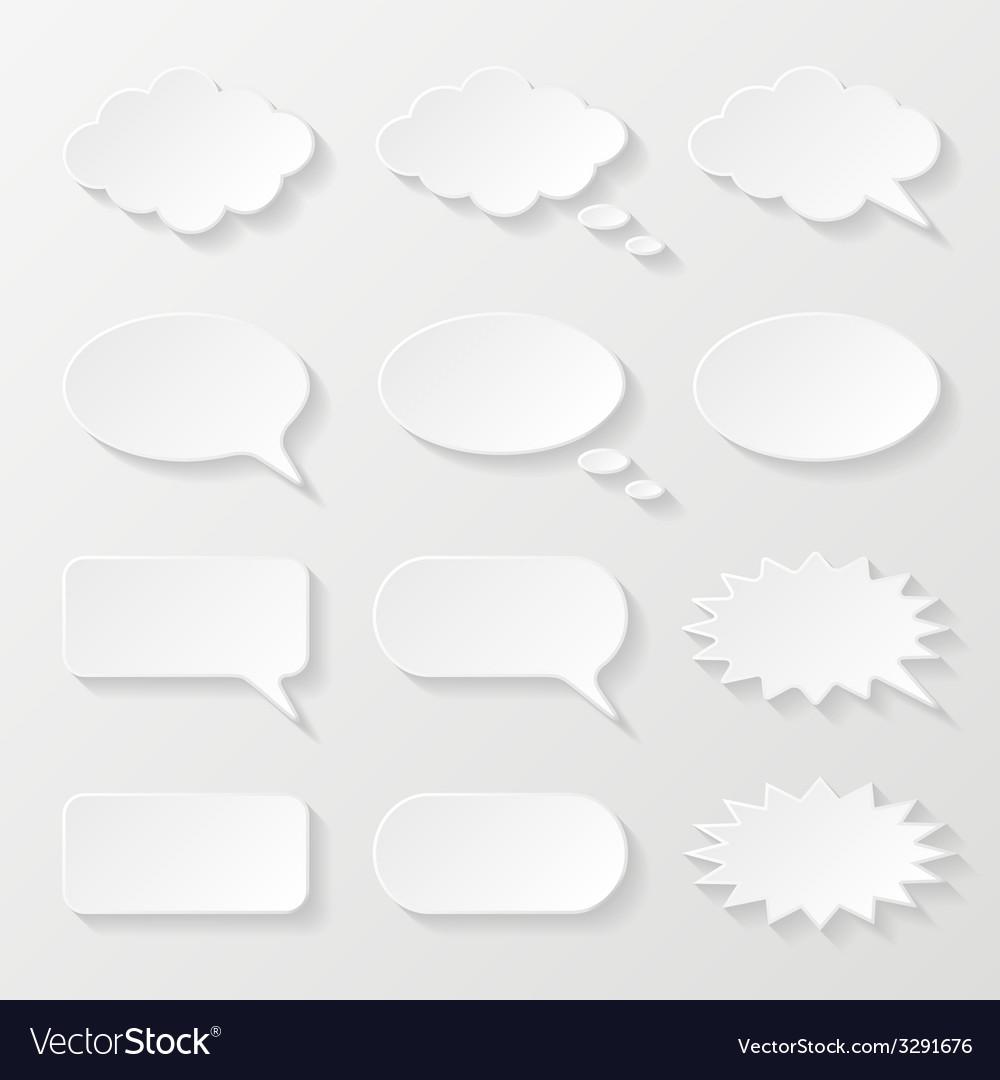 Set of paper speech bubbles vector | Price: 1 Credit (USD $1)