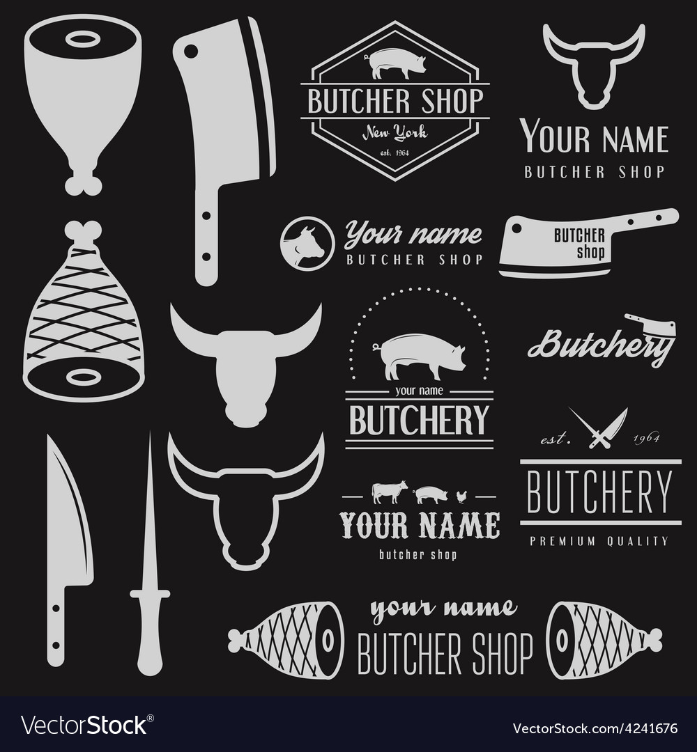 Set of vintage logo and logotype elements for vector