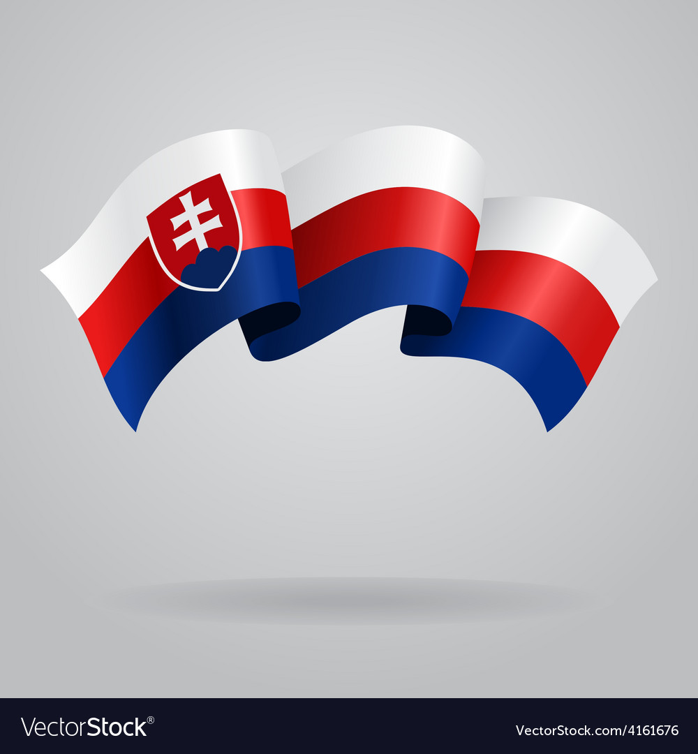 Slovak waving flag vector | Price: 3 Credit (USD $3)