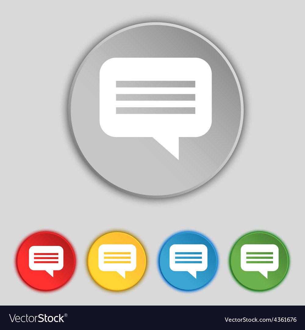 Speech bubble chat think icon sign symbol on five vector   Price: 1 Credit (USD $1)