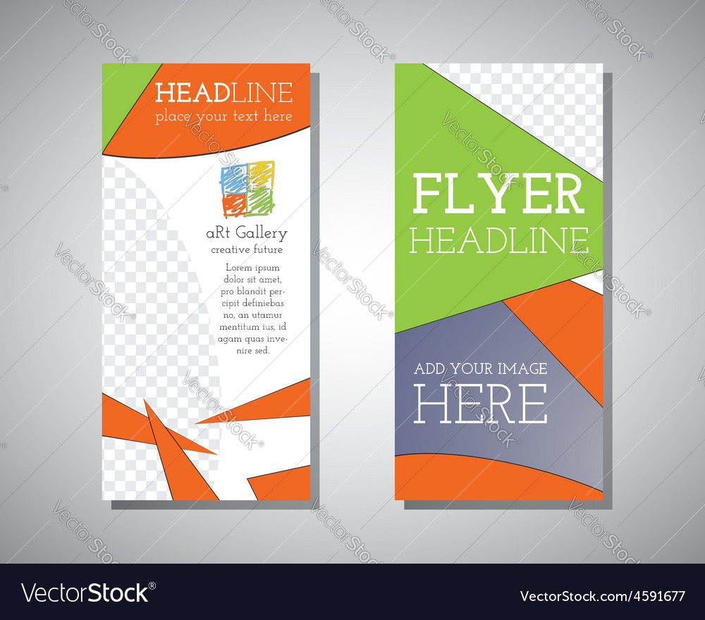 Abstract art gallery polygonal triangle brochure vector | Price: 1 Credit (USD $1)