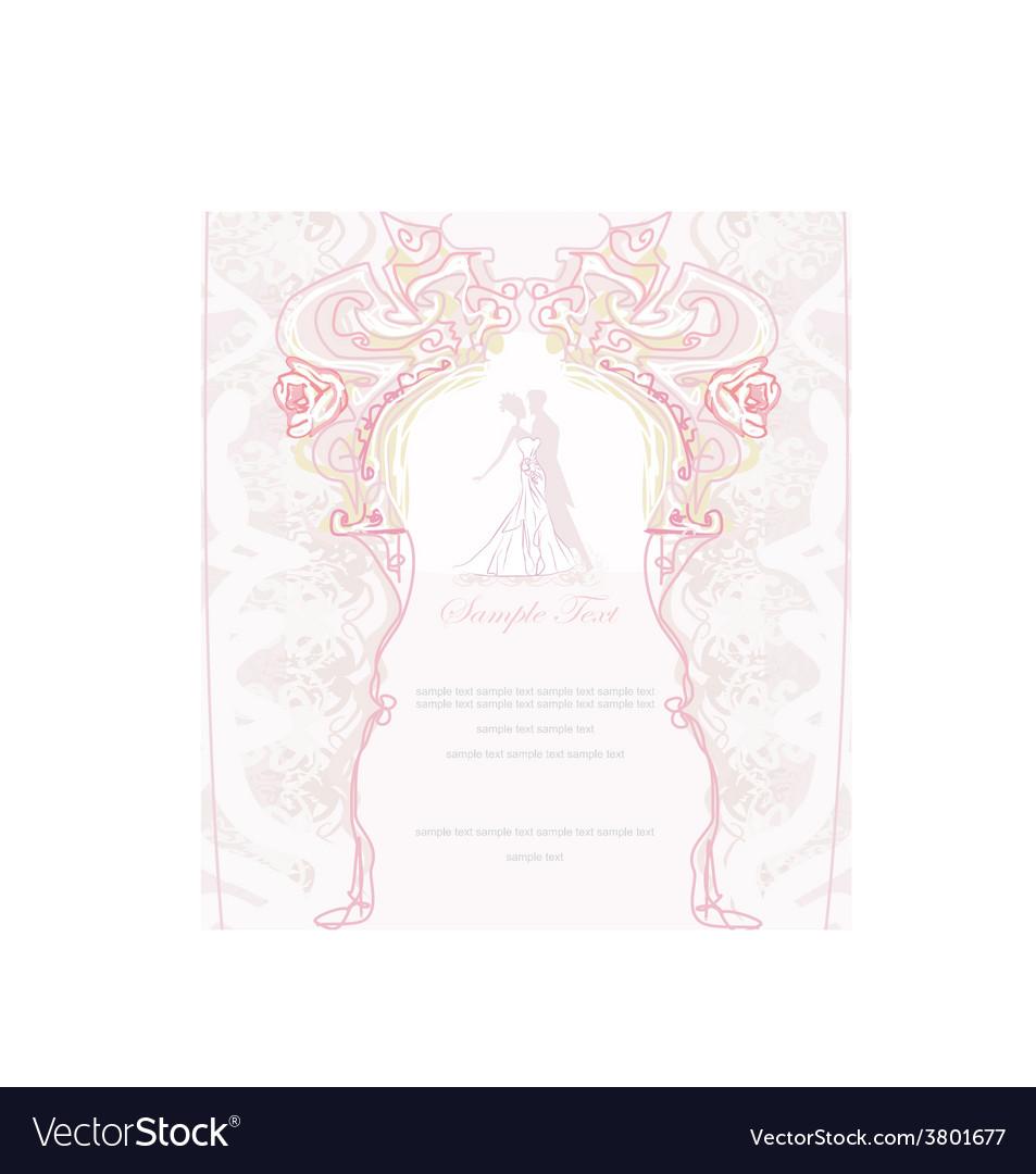 Ballroom dancers - invitation vector | Price: 1 Credit (USD $1)