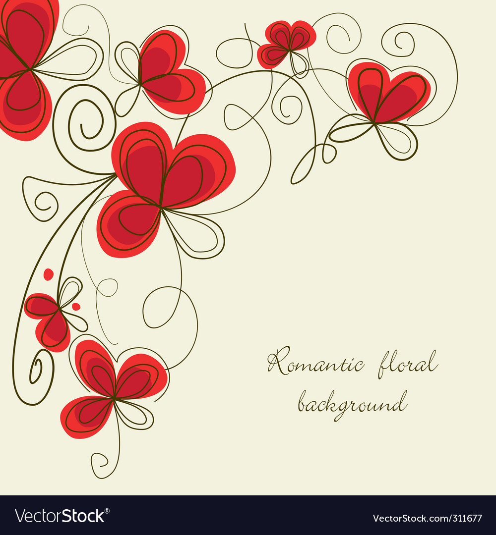 Floral corner vector | Price: 1 Credit (USD $1)