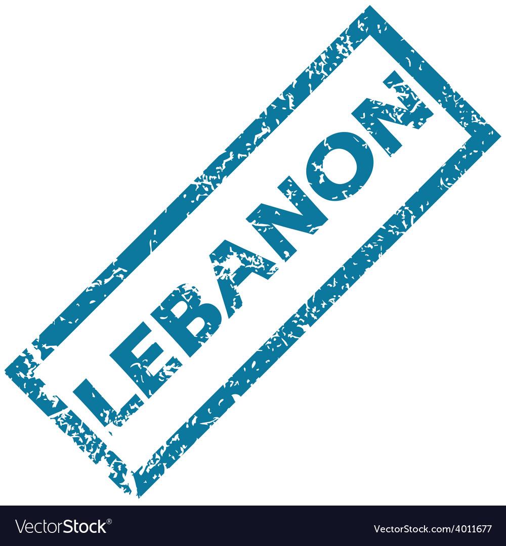 Lebanon rubber stamp vector   Price: 1 Credit (USD $1)