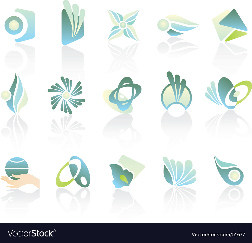 Logo pastel set vector | Price: 1 Credit (USD $1)