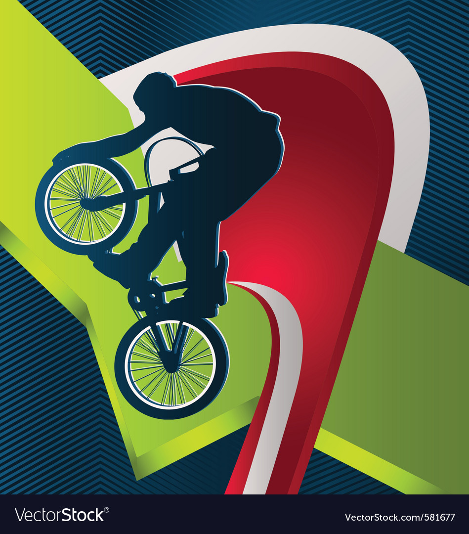 Modern dynamic designed sport background bmx vector | Price: 1 Credit (USD $1)