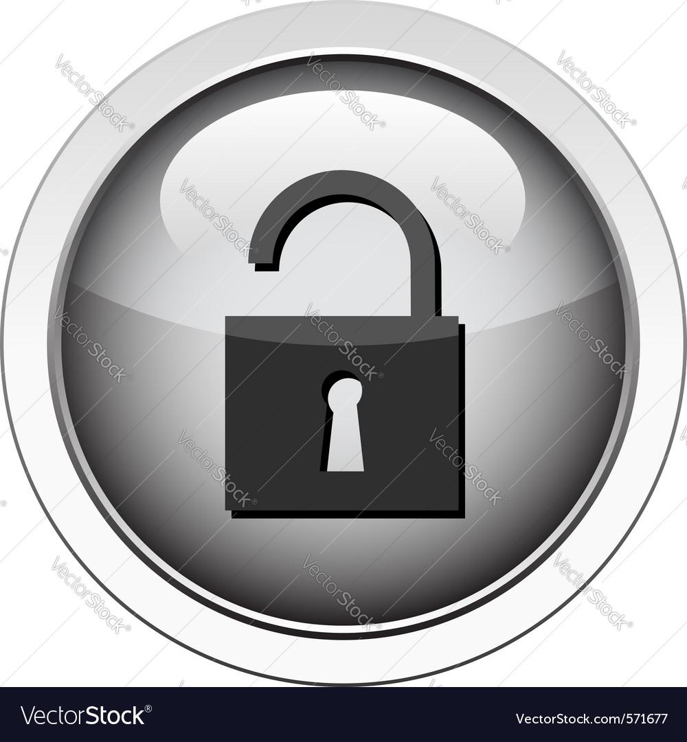 Padlock unlocked icon vector | Price: 1 Credit (USD $1)