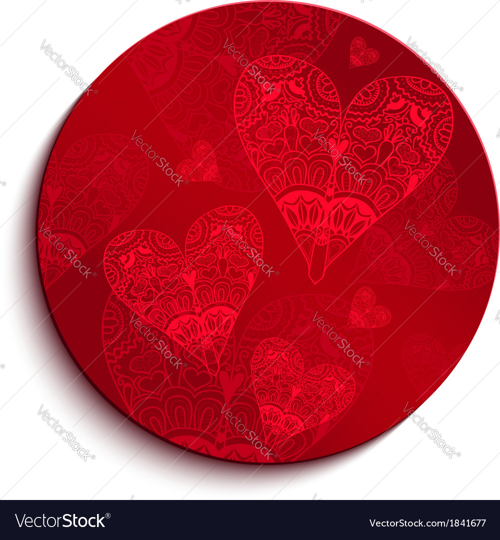 Red circle pattern for valentines day vector | Price: 1 Credit (USD $1)