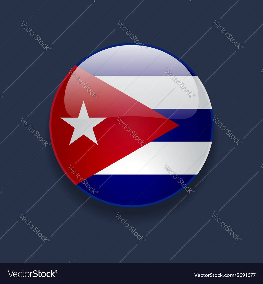 Round icon with flag of cuba vector | Price: 1 Credit (USD $1)