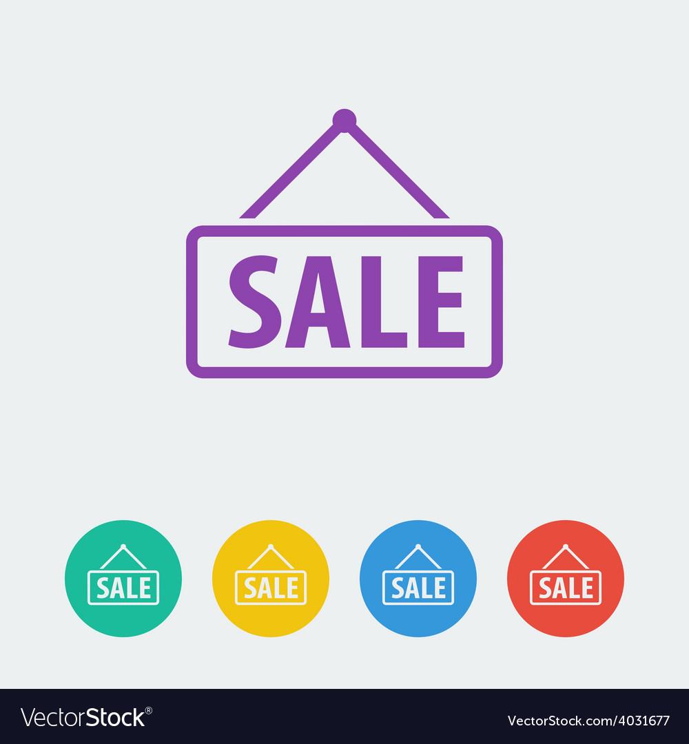 Sale flat circle icon vector | Price: 1 Credit (USD $1)