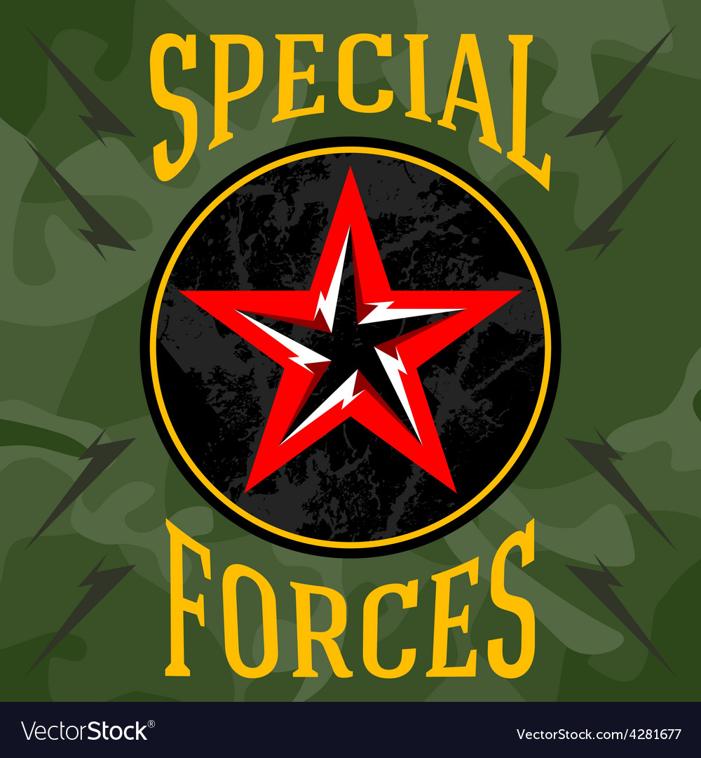 Special forces military patches with forest vector | Price: 1 Credit (USD $1)