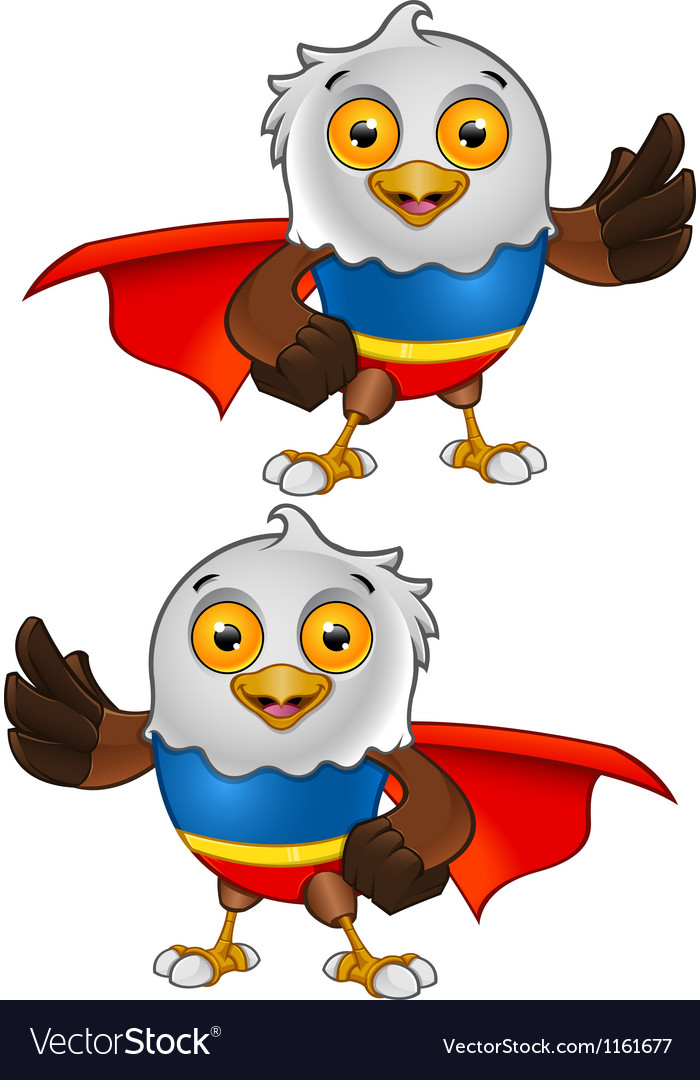 Super bald eagle character 3 vector | Price: 1 Credit (USD $1)