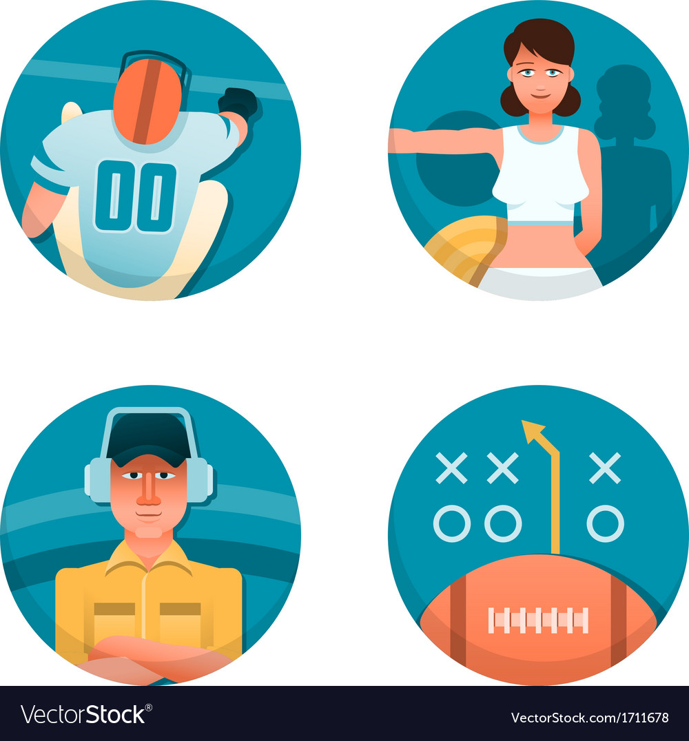 American football part 2 vector | Price: 1 Credit (USD $1)