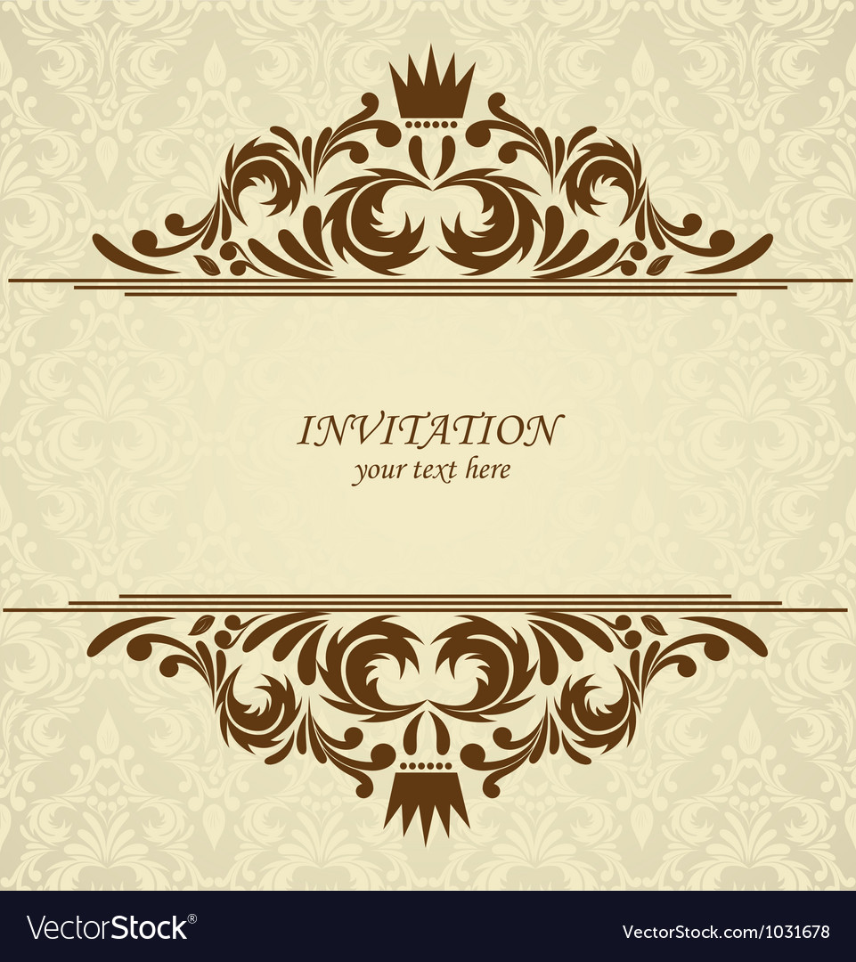 Background with damask pattern vector | Price: 1 Credit (USD $1)