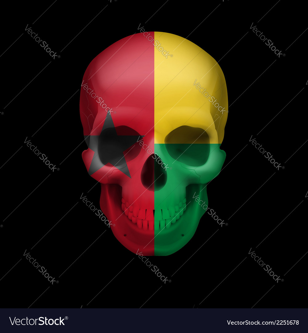 Guinean flag skull vector | Price: 1 Credit (USD $1)