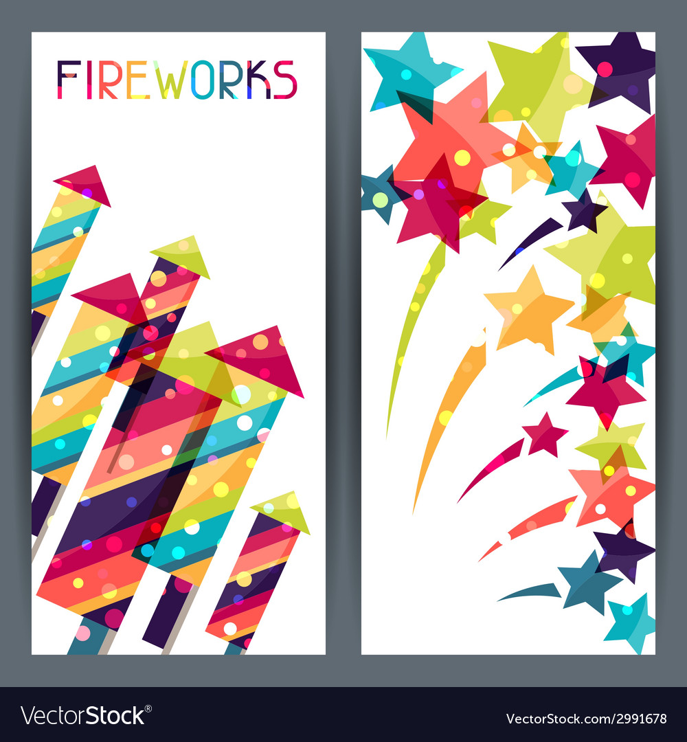Holiday colorful vertical banners with shiny vector | Price: 1 Credit (USD $1)