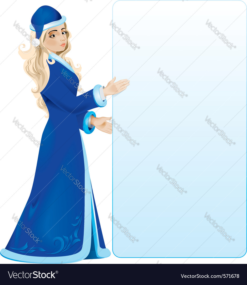 Snow maiden vector | Price: 1 Credit (USD $1)