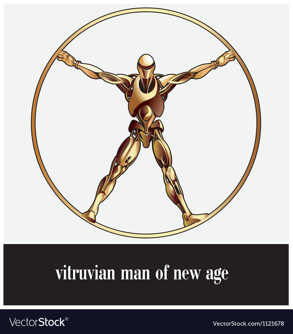 Vitruvian man of new age vector | Price: 1 Credit (USD $1)