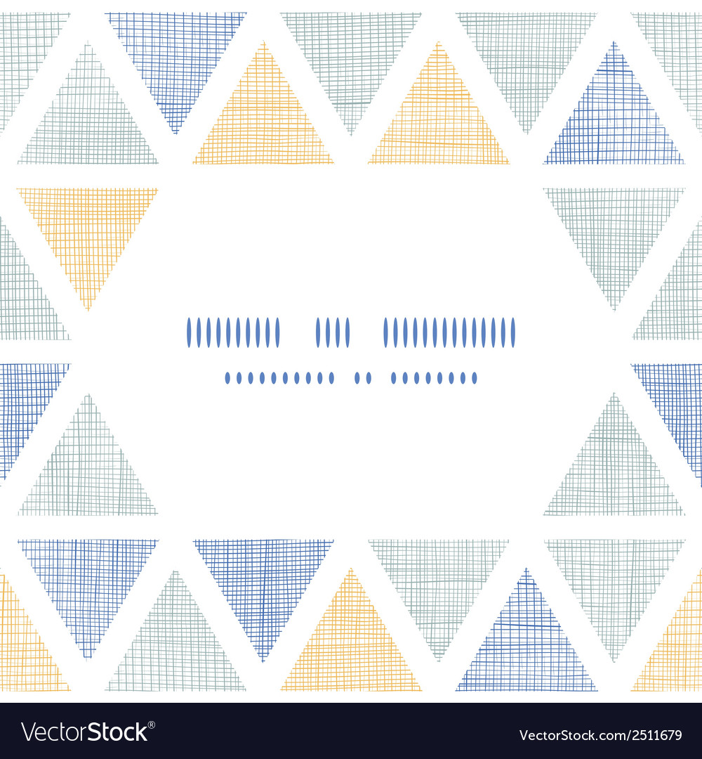 Abstract textile ikat triangles frame seamless vector | Price: 1 Credit (USD $1)