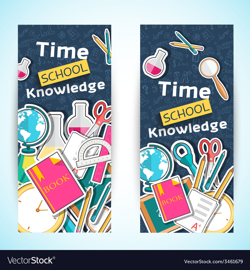 Back to school abstract background of flat icons vector   Price: 1 Credit (USD $1)