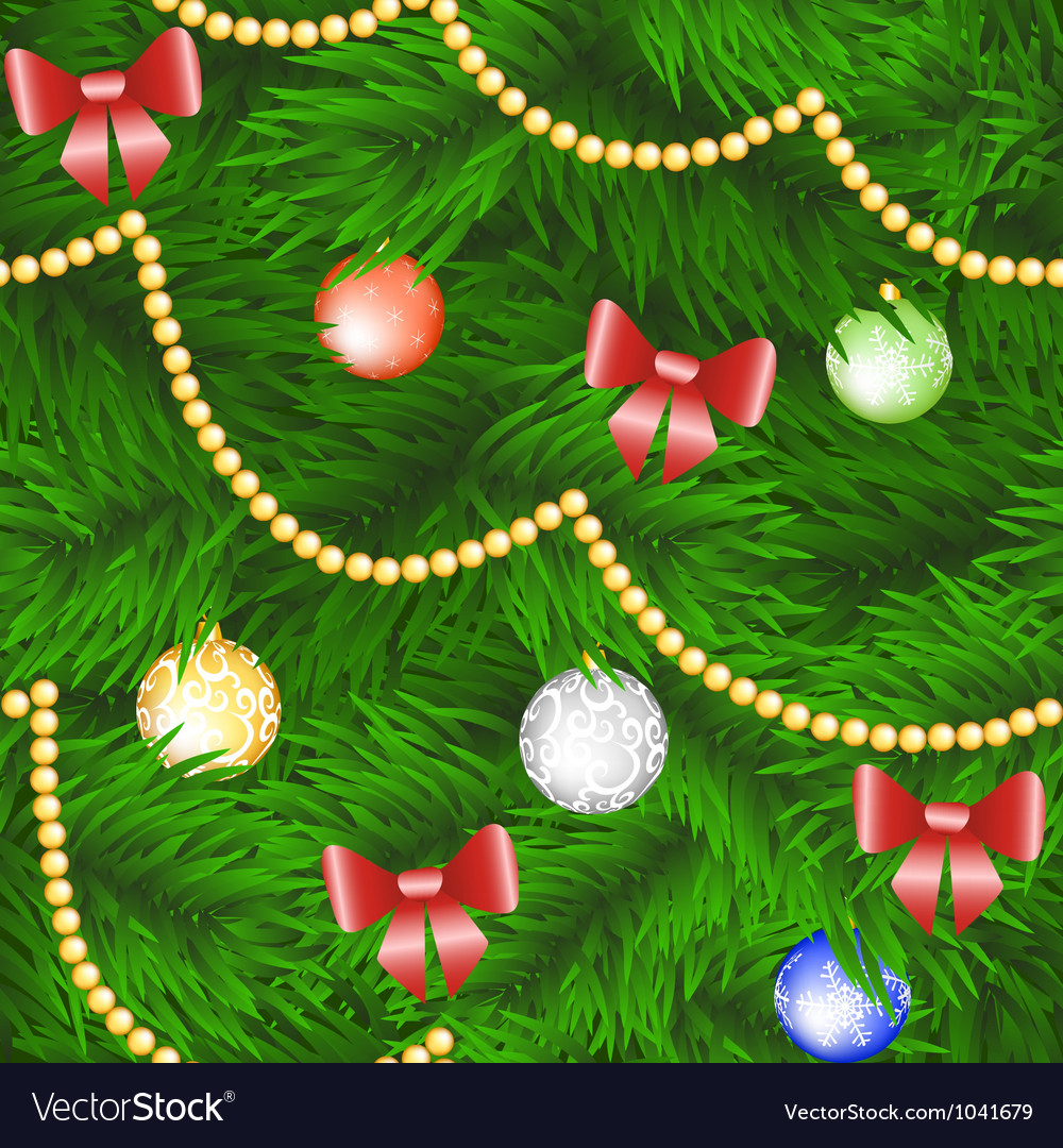 Christmas tree seamless background vector | Price: 1 Credit (USD $1)