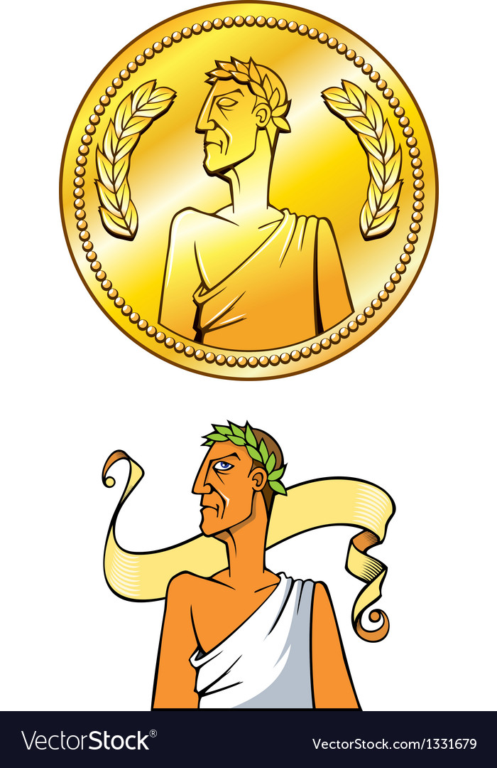 Emperor coin vector | Price: 1 Credit (USD $1)