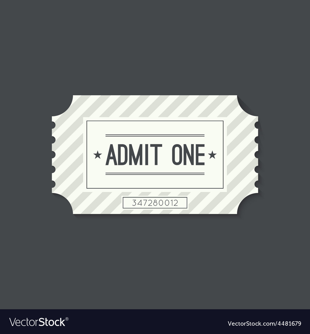 Entry ticket to old vintage style vector | Price: 1 Credit (USD $1)