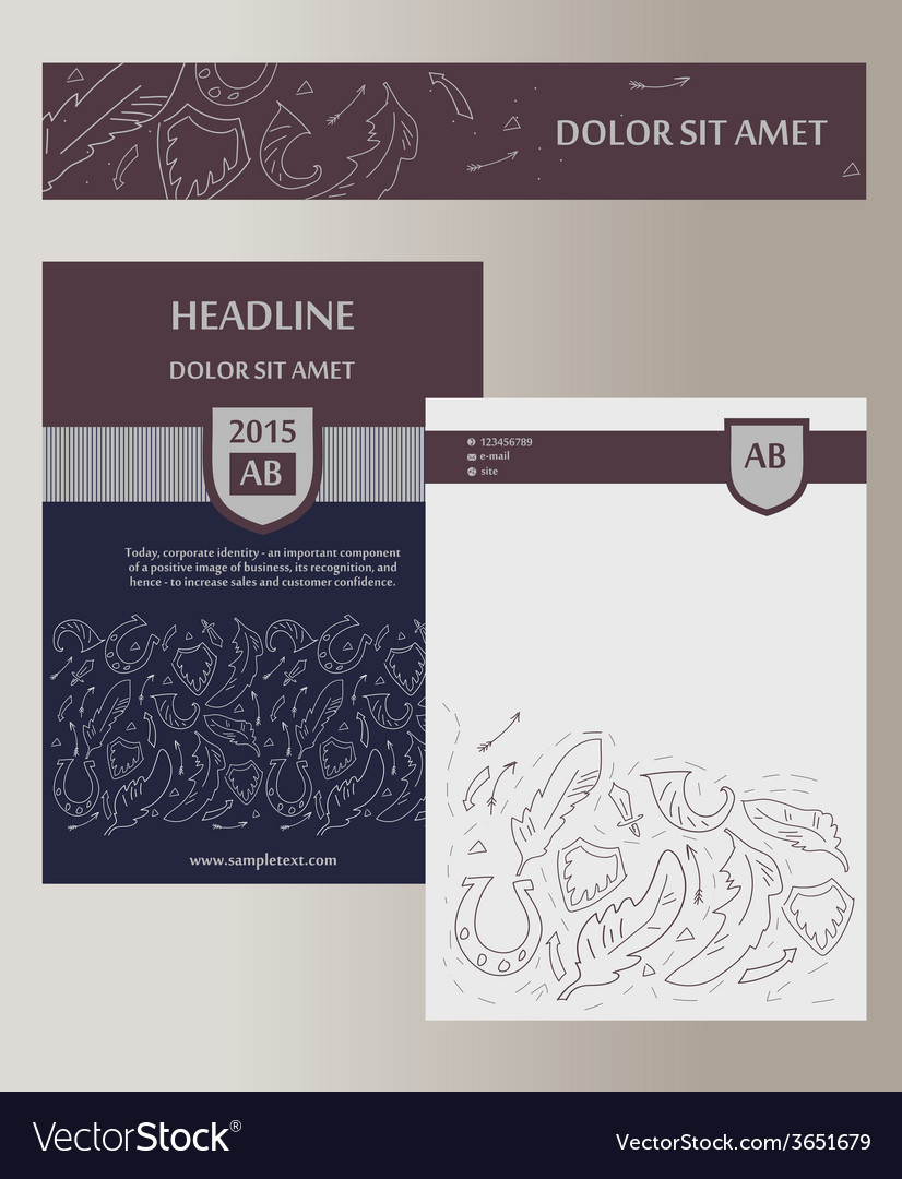 Flyer cover template with heraldic elements status vector | Price: 1 Credit (USD $1)